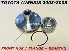 FOR TOYOTA AVENSIS 2003-2007 FRONT WHEEL HUB FLANGE and BEARING KIT 2.0 D4D