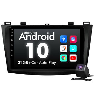 """CAM+Android 10 For Mazda 3 2010-2013 9"""" CarPlay Radio GPS Car Stereo Touchscreen"""