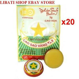 20 Packs-Golden Star Aromatic Balm (3g) - Natural Remedy Essential Oils_USPS