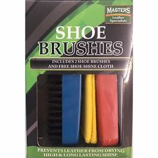 Chaussure Boot Polish Brush Set of 2 and Free Shoe Shine Toile Chaussures Brosses