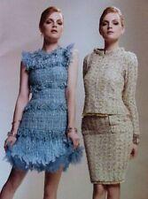 $5400!! 11 NEW CHANEL Fantasy Tweed Sequins OSTRICH BEIGE BLAZER SUIT JACKET 44