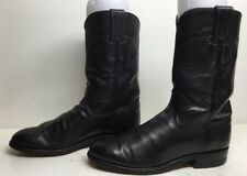 WOMENS JUSTIN WESTERN ROPER LEATHER MIDNIGHT BLUE BOOTS SIZE 6 B