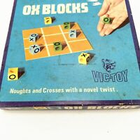 Vintage OX BLOCKS VIC-TOY Noughts & Crosses With a Twist Game