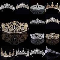 Girls Rhinestone Princess Crown Prom Tiara Hair Band Headwear Party Accessories