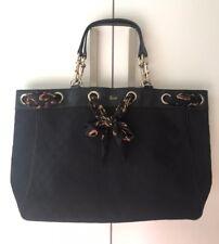 Authentic Gucci Positano Signature Canvas Scarf Tote Bag