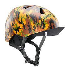 Bern Nino Boys Kids Bike Skate Helmet Matte Tan Camo w Visor XS-S 48-51.5
