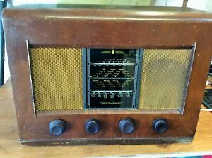 Vintage Bush Radio Type AC11 MW LW SW 3-Band Valve Radio & Spares