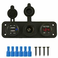 Car Bullet Cigarette Lighter Plug And Socket 2 Usb Socket Charger Adapter 12V NN