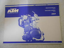 KTM  620 SC Supermoto Modell 2001 Ersatzteilkatalog Motor Spare parts engine