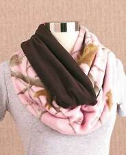 Realtree Camouflage Fuzzy Fleece Pink Brown Camo Infinity Loop Scarf Women WARM!