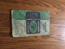 1947 John Deere Model B Series Tractor Operators Manual OMRB2848 Shows Age