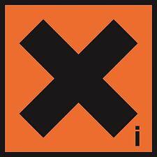 Health and Safety Hazard Sticker Irritant sticker orange