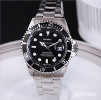Business Men Automatic quartz Mechanical Stainless Steel Calendar Military Watch