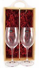 Deux rouge vin riedel verres cristal