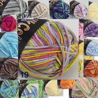 Soft Baby Cotton Yarn New Hand dyed Wool Socks Scarf Knitting 1ball 50gr