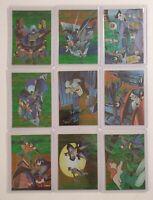 Batman & Robin 1995 Skybox R1-R9 Foil 9 Card Insert Complete Set