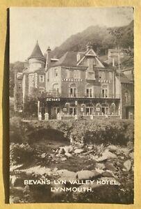 Lynmouth - Devon - Bevan's Lyn Valley Hotel - A V.G. Unused Vintage Postcard