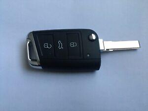 VW T-Cross 2019 3 Button Remote Control Flip Key MQB48