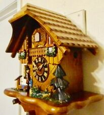****8 DAY SWISS CHALET BLACK FOREST GERMANY CUCKOO CLOCK****