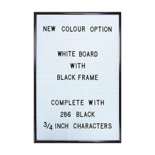 JAY Peg White Letter Board Message Vintage Changeable Black 286 Letters Large A3