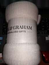 Mark & Graham Natural/Ivory Throw 50 x 60 in New in package Super Soft!