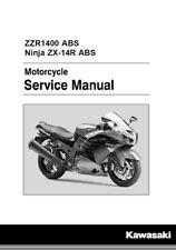 Kawasaki Ninja ZX-14R ZZR1400 ABS 2016 2017 service manual on CD