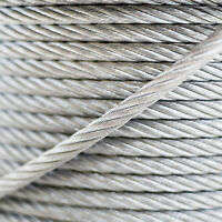 1-3mm GALVANISED STEEL WIRE ROPE 1x7, 1x19, 6x7 metal cable zinc plated
