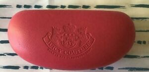 Juicy Couture Pink Hard Clam shell Eye or Sun glass Glass Case Authentic