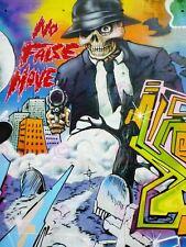 Fotografía mural de graffiti street Pared Gangster Calavera Cartel Art Print LV10790
