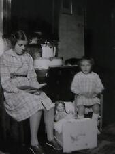 Vintage Photographie Allemagne Germany 1940 jeux enfants jouets  snapshot