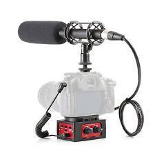 """Movo DSLR Video Audio Kit - 11"""" XLR Supercardioid Shotgun Microphone & 2CH Mixer"""