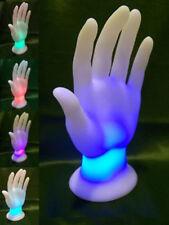 LED-Hand Schmuckhalter Ring-Halter Schmuckständer DEKO Leuchte Farbwechsel NEU