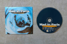 """CD AUDIO MUSIQUE  / MAD IN PARIS """"PARIS A LE BLUES"""" 2T 1996 CD SINGLE CARDSLEEVE"""