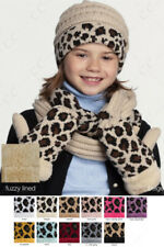 ScarvesMe C.C 3-9 years Children Girl Boy Kids Animal Leopard Ribbed Knit Mitten