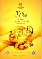 More details for bayern munich v inter milan 2010 champions league final programme