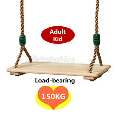 Wooden Swings Seat Child Adult Yard Swing Play 150Kg Load-Bearing Home Outdoor