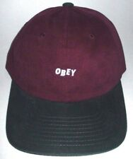 MENS OBEY MAROON EGGPLANT FORREST CAP SNAPBACK ADJUSTABLE HAT