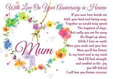 waterproof Memorial Graveside Card Anniversary Mum Gran Granny Auntie Sister F93