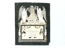 More details for victorian 1863 jane stephenson funeral memoriam pierced decorative card 7.5