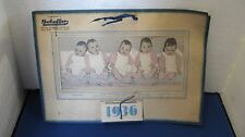 Vintage 1936 Advertising Calendar With Picture & Names Of Dionne Quintuplets