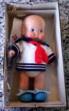 Vtg 1987 Hebee Sailor Boy Doll By Horsman New In Original Box Complete With Hat