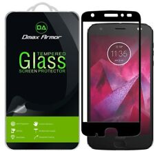 Motorola Moto Z2 Force Edition Tempered Glass Full Cover Screen Protector Black
