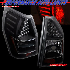 Set of Pair Black LED Taillights for 2005-2008 Dodge Magnum / Europe 300C Wagon