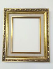 Picture Frame-11x14 Vintage Antique Style Baroque Gold Ornate w Linen Liner 139G