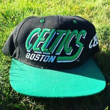 Vintage 90's NBA DEADSTOCK Snapback Hat Cap AJD Boston CELTICS  FREE SHIPPING