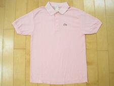 Classic! 80s vtg Pink Garan monkey logo Golf polo Shirt youth xl Tstm