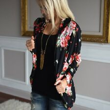 Women Chiffon Shawl Kimono Cardigan Tops Beach Cover Up Blouse Beachwear UK