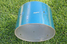 "60's Rogers 20"" HOLIDAY BLUE SPARKLE HOLIDAY BASS DRUM SHELL for DRUM SET! #E261"
