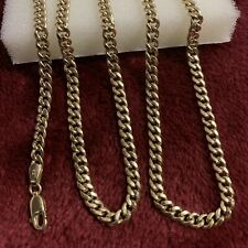 20 Inches 10 kt yellow gold miami cuban chain lobster lock 3mm scrap or wear