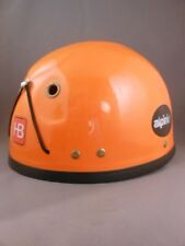 Vtg Safety Orange Hb Alpinist Tree Rock Climbing Caving Helmet Hugh Banner